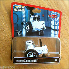 Disney PIXAR Cars STAR WARS Tractor as STORMTROOPER diecast RARE Disney Parks