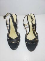 77e7048705a2 Lauren Ralph Lauren Black Leather Platform Sandals pump Women s size 6.5