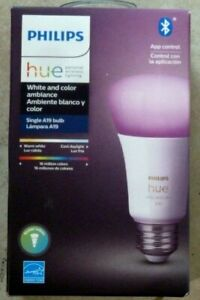 Philips Hue White and Color Ambience A19 2000 -6500 K Warm to cool 1 pack bulb