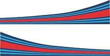 Car Vinyl Sticker Decal Martini Style Colours Curved Stripes Tape Handed x2