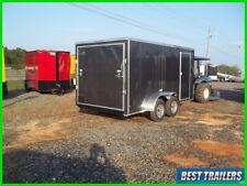 2020 7 x 14 screwless enclosed cargo trailer grey motorcucle hauler ready to go