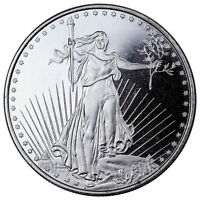 Deal! Highland Mint 1 oz .999 Fine Silver Saint-Gaudens Design Round SKU45168