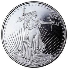 Highland Mint 1 Troy oz. .999 Fine Silver Saint-Gaudens Design Round SKU45168