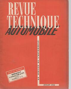 REVUE TECHNIQUE AUTOMOBILE 99 RTA 1954 RENAULT DIESE 568 272 TRACTEUR FARMALL FC
