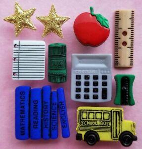 V2 PENCIL BOX Craft Buttons Children School Teacher Bus Ruler Books Dress It Up