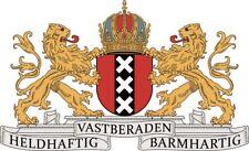 Aufkleber Amsterdam Wappen Autoaufkleber 30 x 18 cm Sticker Konturschnitt