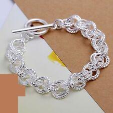 925 Silber Damen Bettelarmband Armband Bracelet eflochten Schmuck Neu