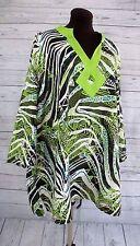 Maggie Barnes Tribal Tunic Blouse Jungle Abstract Women's 3X 26/28W