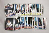 Lot of 47 Different Cards 1985 Topps Baseball Blank Back Error Starter Set