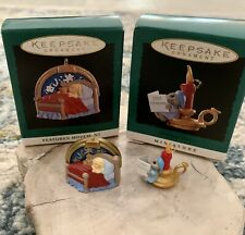 "Hallmark Keepsake Miniature 1995 ""Christmas Wishes""&""Su garplum Dreams"" Ornaments"