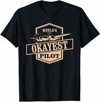 World's Okayest Pilot - Funny Flying Gift T-Shirt Funny Vintage Gift For Men