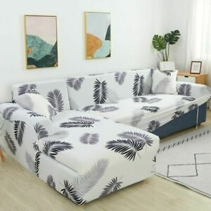 Leaves Printed Sofa Covers For Living Room Couch Cover Corner Cover Slipcovers