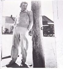 Postcard James Dean Leaning on Telephone Pole Black & White Unposted New