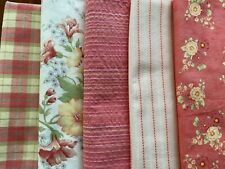 Oop Designer April Cornell and 3 Sisters by Moda - 5 Fat Quarters Pink Floral