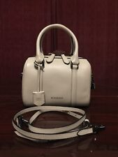 Burberry Alchester Convertible Small Off-white Leather Satchel