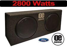 """Doppel 12"""" Eingebaut Amp 2800 Watts Dünn Flach Active Bassbox Cabrio Ford"""