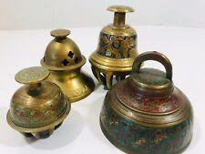 Vintage Brass Czech Bells Lot