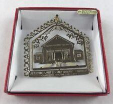 Nations Treasures Jericho United Methodist Church Brass Metal Souvenir Ornament