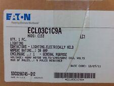 Eaton Lighting Contactor 30A 460V NEMA Type 1 enclosure #ECL03C1C9A #1B-1002-A10