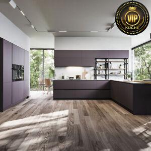 Moderne Loft Küche MODO Wohnküche, offene Küche, Anthrazit (Meterpreis)