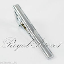 Brand New Men's Gentleman Silver Metal Simple Necktie Tie Clip Bar Clasp TC27