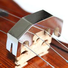 Lujo Cromo Bronce Muda De Práctica Para Violín 4/4 y pequeñas Viola