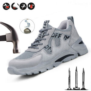 Mens Womens Safety Trainers Boots Shoes Steel Toe Cap lightweight Sneakers Size