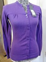 NWT LIJA Women's Button Down Cardigan Sweater Purple Size XS MSRP $120