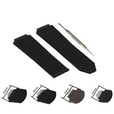 25/21/23mm Black Silicon Rubber Watch Strap Band Fits For Hublot BigBang W/ Tool