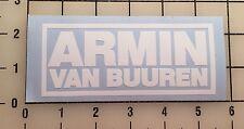 "Armin Van Buuren 5"" Wide White Vinyl Decal Sticker - BOGO"