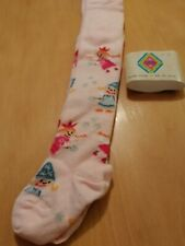 BNWT MP soft cotton pale pink tights with a fairie print up the leg age 6/12 mth