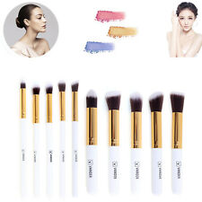 10tlg Make up Brush Pinsel Set Puderpinsel Grundierungspinsel Conceale  Weiß