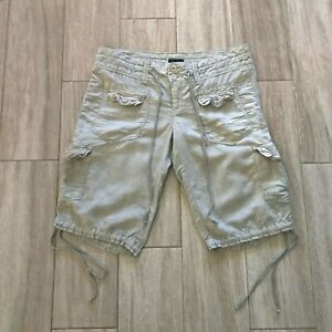 American Eagle Outfitters Women's size 2 Pearl Gray  Knee Length Linen Shorts