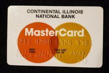 Continental Illinois Natl Bank MasterCarcredit card exp 1983♡Free Shipping♡cc588