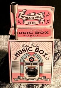 "Retro Pocket MUSIC BOX Song ""My Heart Goes On"" Wind to Play"
