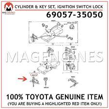 69057-35050 GENUINE OEM CYLINDER & KEY SET, IGNITION SWITCH LOCK 6905735050