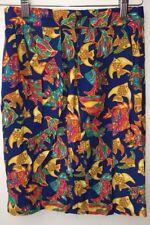 Donna Gonna blu con stampa pesce misura 4 Talbots Petite < NH8469