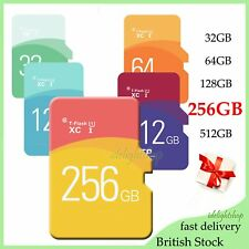 TF Flash Memory Storage Card Disk 256GB SD Card + Adapter For Tablet Mobiles UK