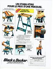 Publicité Advertising 108  1978   bricolage Black & Decker établi- etau workmate