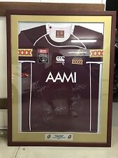 Signed & Framed 2011 QLD State Of Origin Jersey (Lockyer's Last Year)