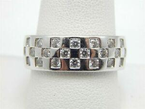 14K White Gold Over Men's Breathtaking  Wedding Band 2.8Ct Round Cut Diamond