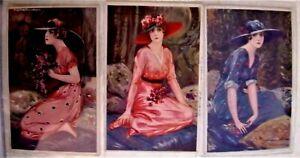 TITO CORBELLA Donnine Serie completa 317 Complete Set of 6 Cards PC Circa 1918