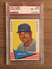 1961 Fleer Baseball #28 Jimmy Jimmie Foxx HOF PSA 8 NM-MT