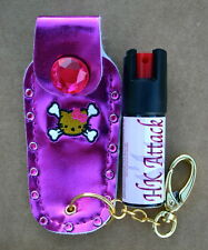 Hello Kitty mace pepper spray 1/2oz bling pkn crystal nail safe keychain defense