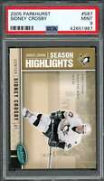 2005-06 parkhurst #587 SIDNEY CROSBY pittsburgh penguins rookie card PSA 9