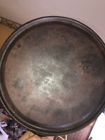 No 9 Unmarked Lodge Griddle Sits Flat Good Codition