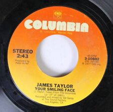 Rock 45 James Taylor - Your Smiling Face / If I Keep My Heart Out Of Sight On Co