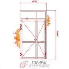 Brandschutz Aluminiumtüre Brandschutztür T30 Rauchdicht Anschlagdich 1830x2560mm