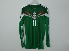 Mexico Football Team 2014/2015 home Adizero #11 World Cup 2014 shirt L/S