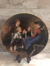 """♕ Vintage Lilien Porzellan Teller 1988 """"Die Geschichtenerzählerin"""" 5060A"""